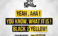 Black And Yellow Wiz Khalifa 4 Cool Hd Wallpaper