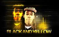 Black And Yellow Wiz Khalifa 5 Cool Wallpaper