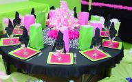 Pink And Black Party Decorations 17 Background