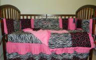 Pink And Black Zebra Bedding 17 Background Wallpaper