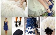 Black And Blue Wedding Colors 5 Background Wallpaper