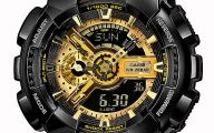 Black And Gold G Shock 19 Wide Wallpaper