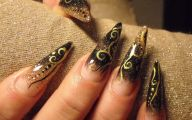 Black And Gold Nails 13 High Resolution Wallpaper