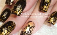 Black And Gold Nails 19 Background