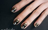 Black And Gold Nails 20 Background