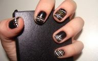 Black And Gold Nails 27 Background Wallpaper