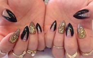 Black And Gold Nails 31 Background Wallpaper