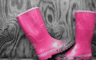 Black And Pink Boots 3 Wide Wallpaper