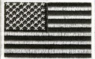 Black And Silver American Flag 2 Background