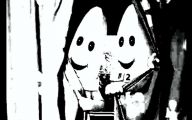 Black And White Teletubbies 16 High Resolution Wallpaper