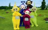 Black And White Teletubbies 5 Widescreen Wallpaper