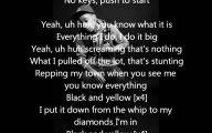 Black And Yellow Lyrics Clean Version 3 Widescreen Wallpaper