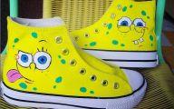 Black And Yellow Spongebob 4 Widescreen Wallpaper