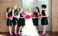 Black Dress Hot Pink Shoes 15 Background