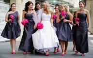 Black Dress Hot Pink Shoes 33 Desktop Wallpaper