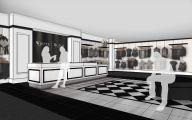 Black & White Shop 19 Background