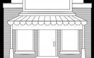 Black & White Shop 22 Background Wallpaper