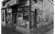 Black & White Shop 39 Widescreen Wallpaper
