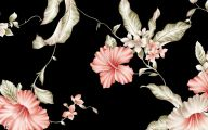 Floral Wallpaper With Black Background 1 Free Wallpaper