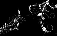 Floral Wallpaper With Black Background 5 Desktop Wallpaper