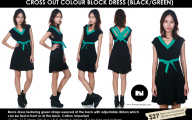 Green And Black Color Block Dress 38 Wide Wallpaper