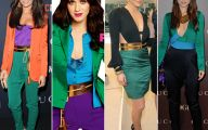 Green And Black Color Block Dress 4 Free Hd Wallpaper