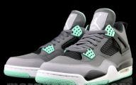 Green And Black Jordans 26 Background