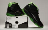Green And Black Jordans 36 Background