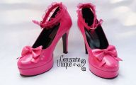Hot Pink And Black Shoes 5 Widescreen Wallpaper