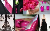 Hot Pink Black Shoes 34 Wide Wallpaper