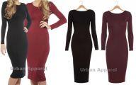 Long Plain Black Dress 18 Widescreen Wallpaper