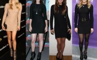 Long Plain Black Dress 30 Background