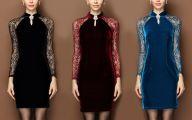 Long Plain Black Dress 38 High Resolution Wallpaper