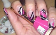 Pink And Black Nail Designs 2 Widescreen Wallpaper