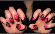 Pink And Black Nail Designs 37 Wide Wallpaper