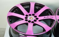 Pink And Black Rims 16 Background