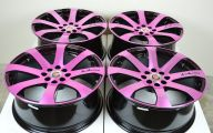 Pink And Black Rims 18 Widescreen Wallpaper
