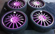 Pink And Black Rims 2 Background Wallpaper