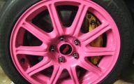 Pink And Black Rims 7 Background Wallpaper