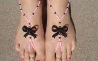 Pink And Black Sandals 23 Widescreen Wallpaper