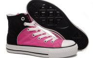 Pink And Black Shoes 42 Background