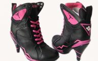 Pink And Black Shoes Heels 11 Hd Wallpaper