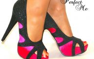 Pink And Black Shoes Heels 17 Background