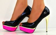 Pink And Black Shoes Heels 2 Free Hd Wallpaper