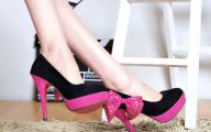 Pink And Black Shoes Heels 27 Widescreen Wallpaper