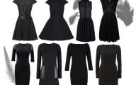 Plain Black Dress With Sleeves 13 Background
