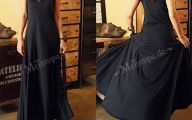 Plain Black Maxi Dress 2 Widescreen Wallpaper