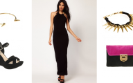 Plain Black Maxi Dress 5 Free Wallpaper