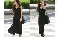Plain Black Maxi Dress 8 Hd Wallpaper