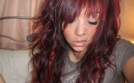 Red And Black Hair Dye 4 Background Wallpaper